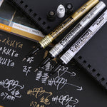 3 Piece: Permanent Metallic Marker Set - Gold, Silver, White