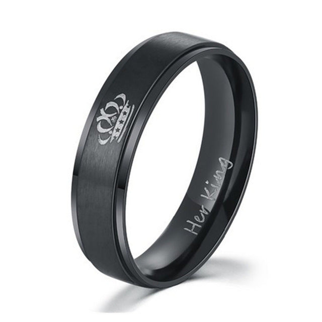 Stainless | Wedding | Fashion | Jewelry | Couple | Queen | Steel | Color | King | Ring