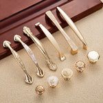 Gold Wardrobe / Dresser Door Handles & Knobs