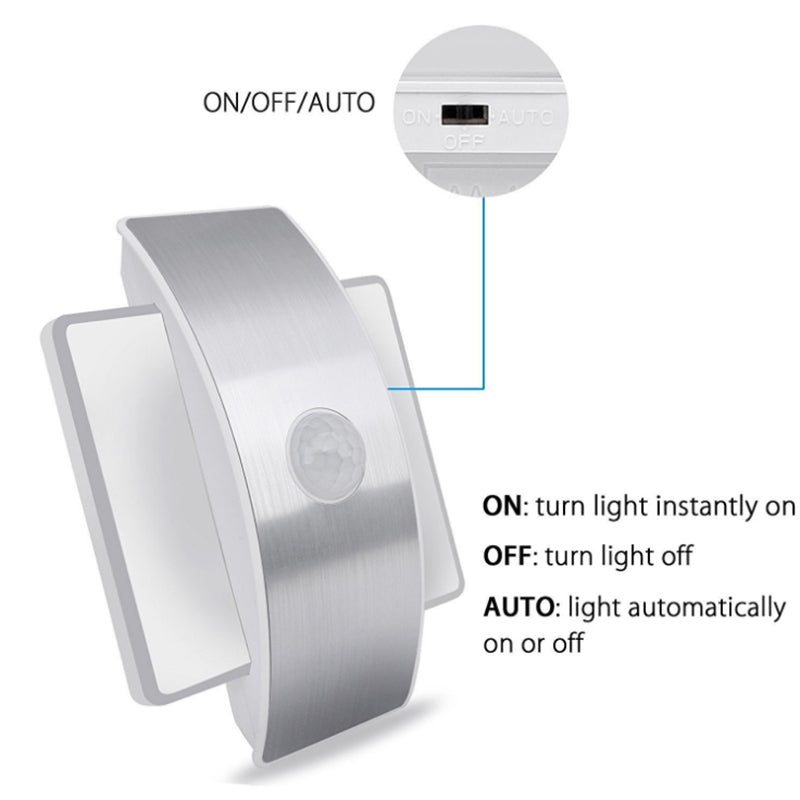 Rechargeable Wireless LED Infrared Motion Sensor Night Light Wall Lamp