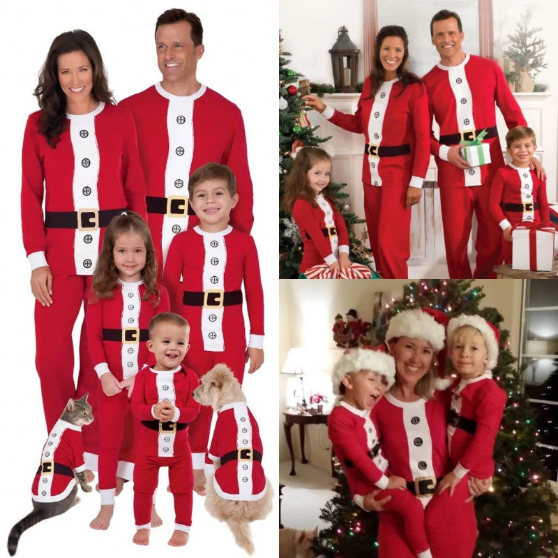 Santa and Elf Family Matching Pajamas