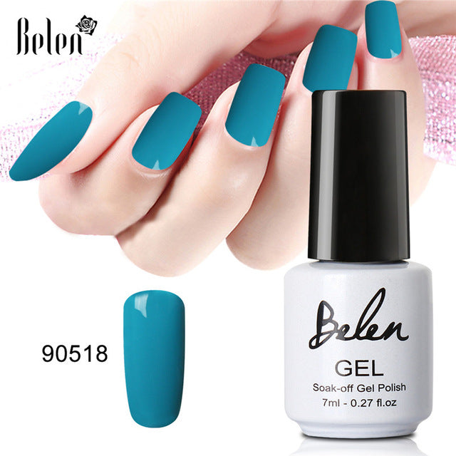 Belen 79 Color 7ML Gel Varnish Soak Off Nail Polish Gel Nail Polish Lacquer Nail Polishes UV Led Manicure Long Lasting Varnishes