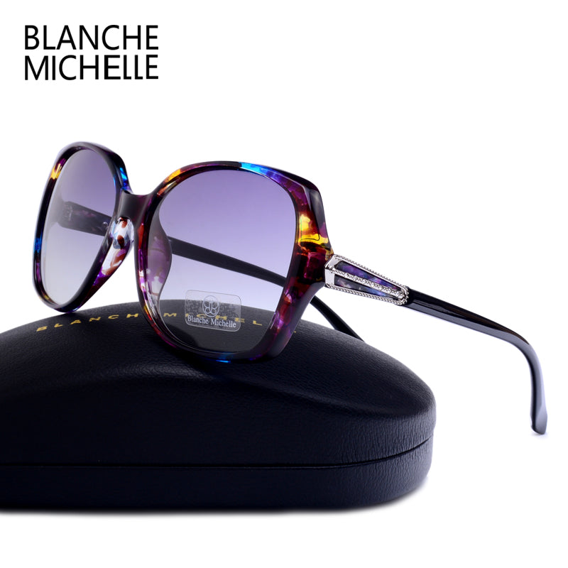 Blanche Michelle High quality Square Polarized sunglasses women Brand Designer UV400 Sunglass Gradient Sun Glasses With Box