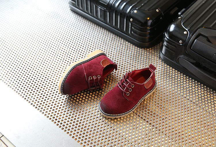 Retro wear large leather shoes