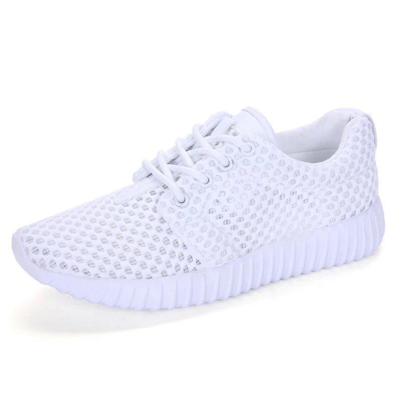 Lightweight Sneakers Women Mesh Breathable Ladies Athletic Shoes White Pink Lady Walking Sneakers