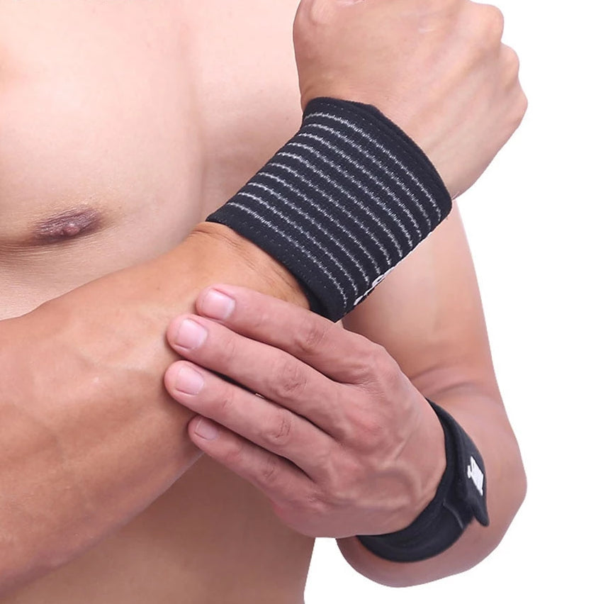 Adjustable Elastic Cotton Bandage Sport Wristband Brace
