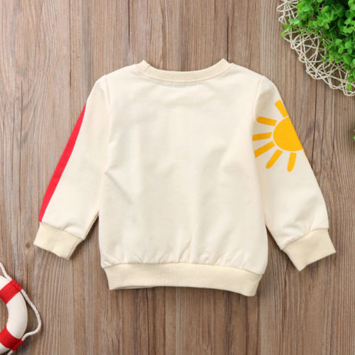 Baby Girl Kid Rainbow T-Shirt Tops Clothes Long Sleeve Sweater Sweatshirt T-Shirts