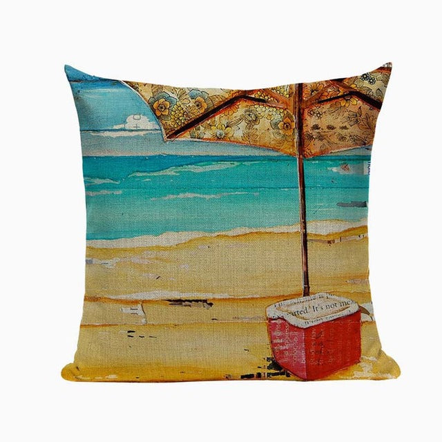 High Quality Relaxation Beach Inspired Couch Cushion Covers
