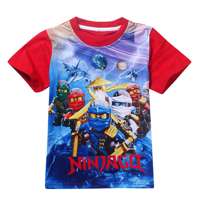 Cartoon | Costume | T-Shirt | Summer | Cotton | Ninja | Cloth | Movie | Shirt | Girl | Kid | Tee | Top