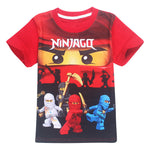 Summer Kids T-shirt Ninja Ninjago Cartoon T shirts Movie Boys Clothing Cotton Tees Boys Girls Tops Kids Costume