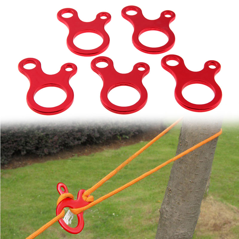 5 Pack: Multi-Function 3-Hole Anti-Slip Quick Knot Rope Buckle
