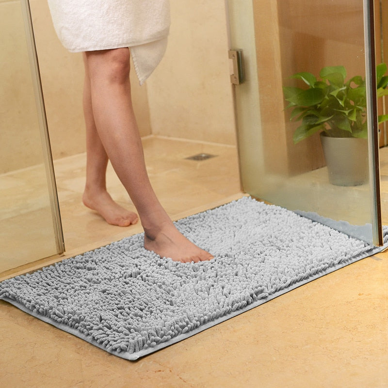Non-Slip Plush Padded Bathroom Carpet Floor Mat