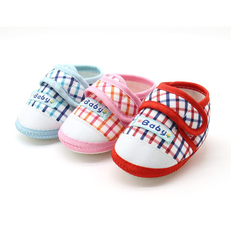 Baby Toddler Cotton Crib Shoes First Wewborn Girl Boy Soft Sole Anti-skid Sneaker Casual Shoes Prewalker