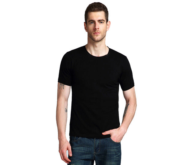 summer Casual Loose O Neck Short Sleeve T Shirt Men 100% Cotton Fashion Solid Tops Tees Male Brand T-Shirts Men's Clothing