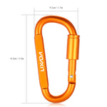 6 Pack: Outdoor Camping Carabiner D-Ring Screw Lock Keychain