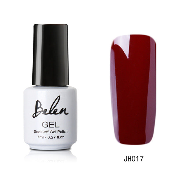 Belen 7ML Wine Red Series 36 Colors Nail Gel Polish Soak Off Long-Lasting Professional UV Led Nail Varnish Gelpolish Base Top