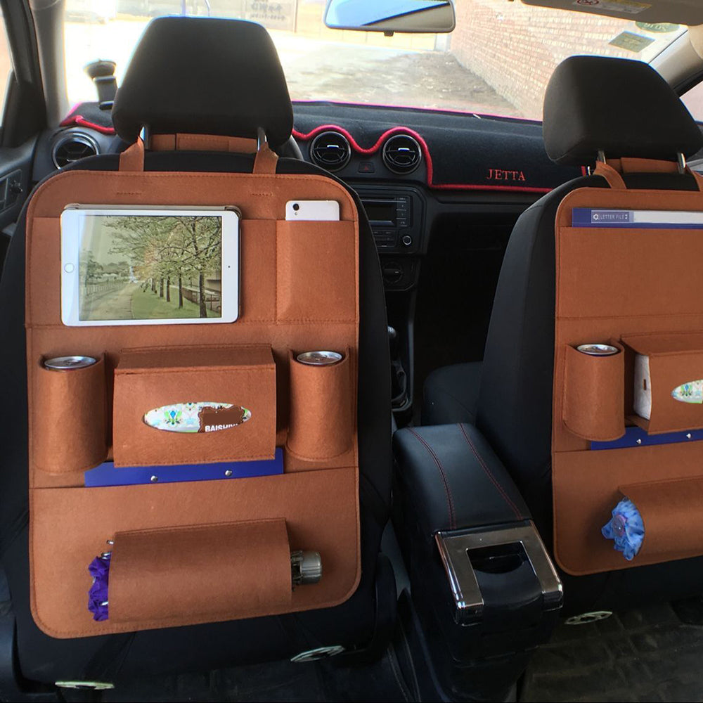 Multi-Pocket Backseat Hanging Car Organizer