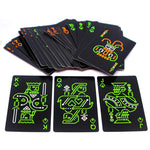 Black Glow In The Dark Bar KTV Noctilucent Fluorescen Poker Cards Night Luminous Playing Cards Collection Special Poker