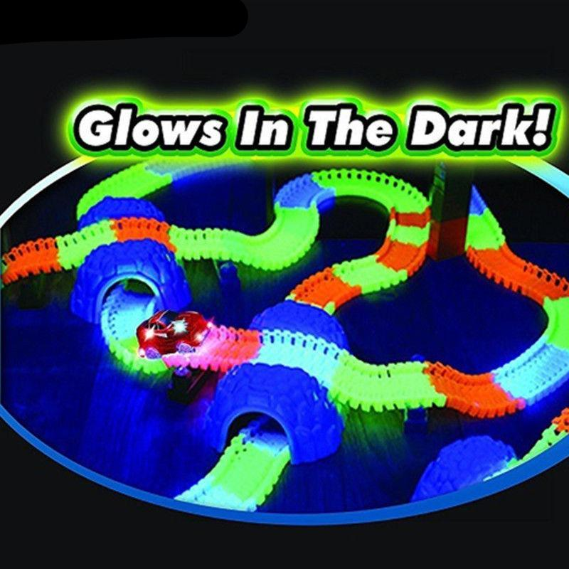 Miraculous Glowing Race Track with Race Car