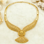 New Christmas Gifts Bold Bride Wedding Jewelry Big New Arabic Dubai Fashion Women Anniversary Gold Flower Jewelry Sets