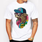 Men's Retro Printed T-shirt