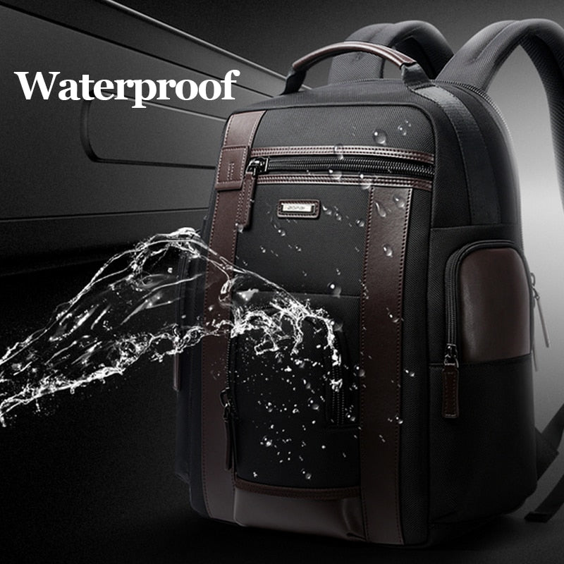 Men's Waterproof Multi-Pocket USB Charging Business Backpack
