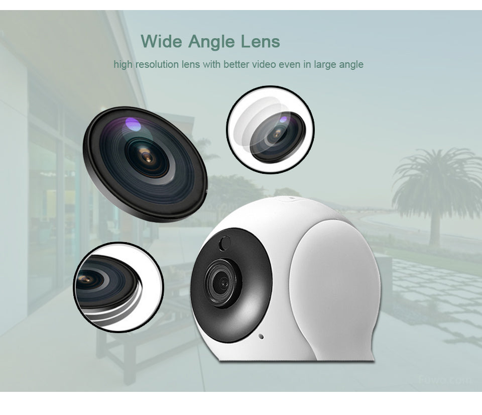 HD 720P IP Wireless Two-Way Audio Night Vision Motion Sensor Home Surveillance Camera