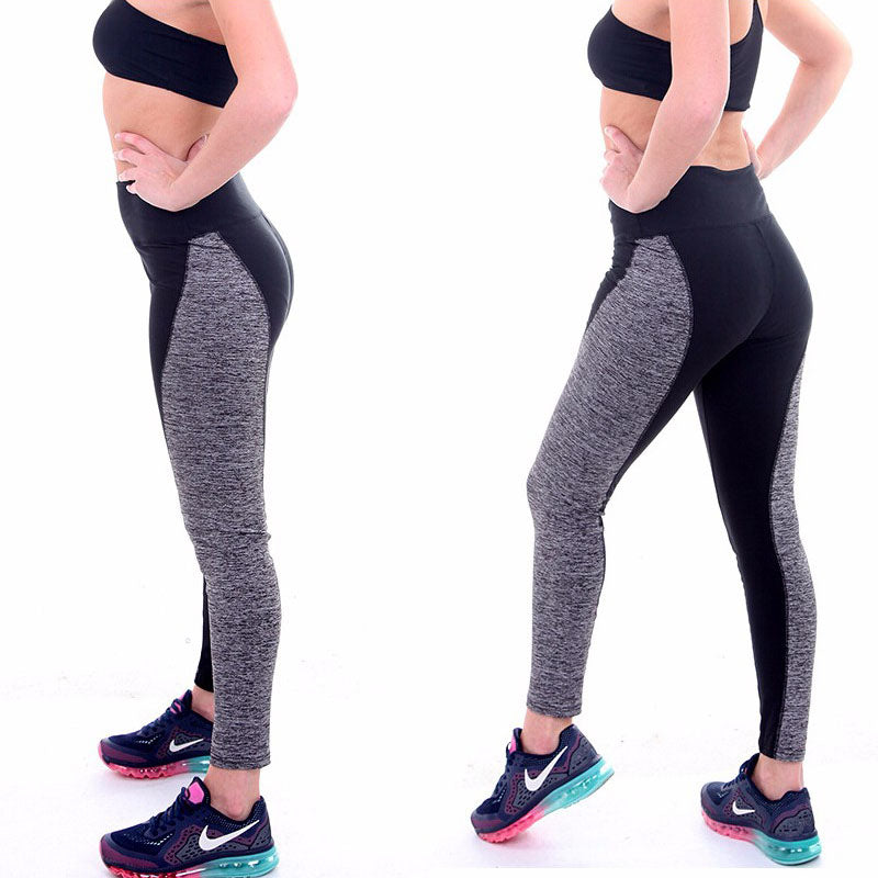Women High Waist Elastic Leggings Patchwork Sexy Warm Workout Fitness Pants Femme leggins Plus Size WA0090