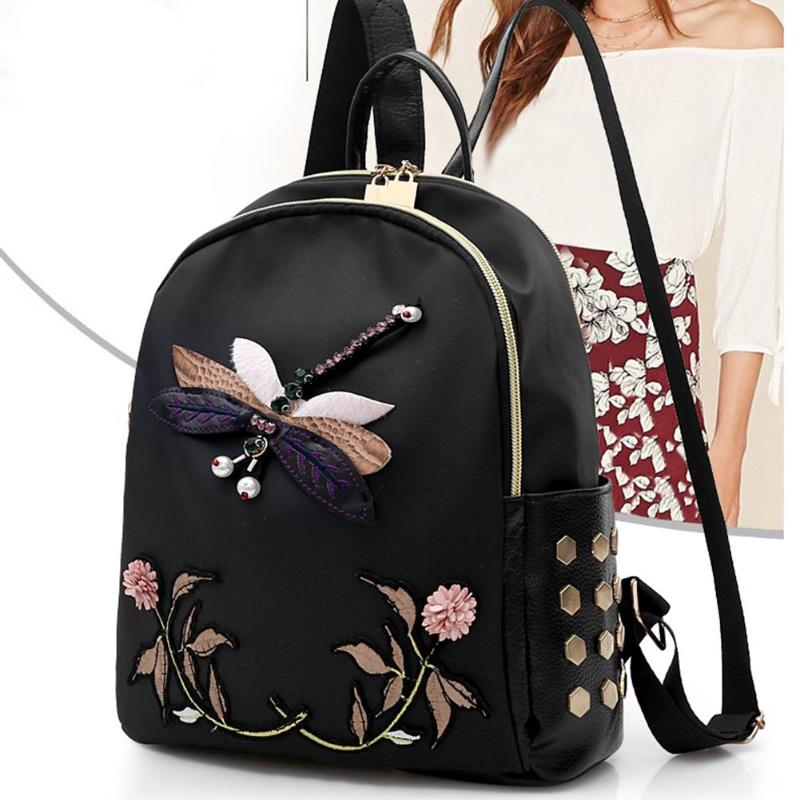 Women's Floral Embroidered Luxurious Designer Backpack