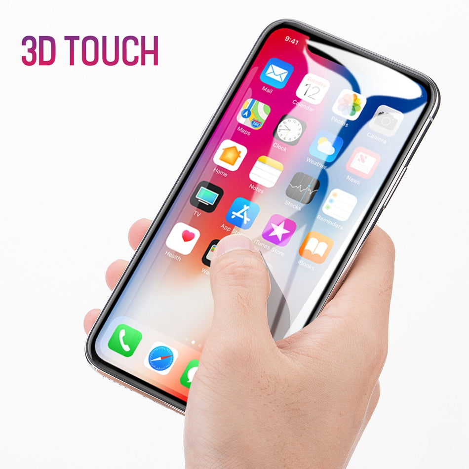 3 Pieces Set Tempered Glass For iPhone X