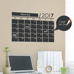 DIY Monthly Chalkboard Calendar Blackboard Sticker Wallpaper