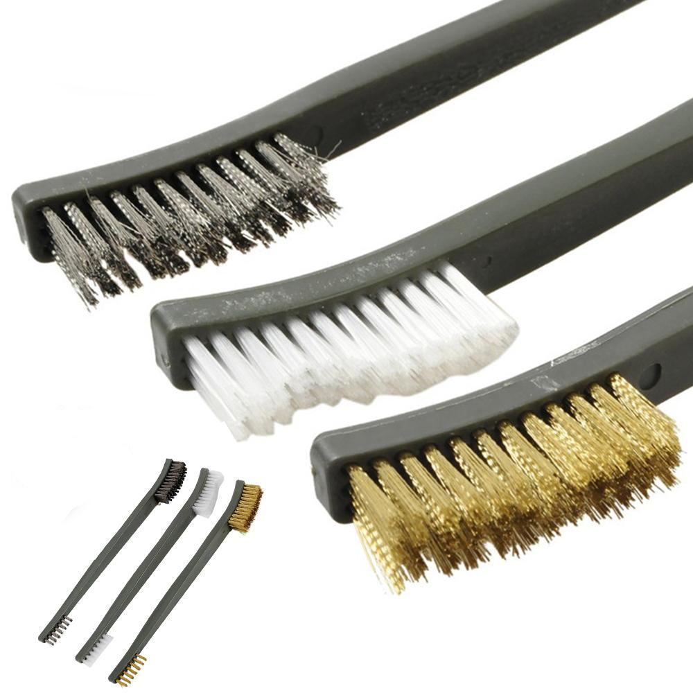 3 Pack: Hard Double-Headed Heavy Duty Gun & Tool Cleaning Brush