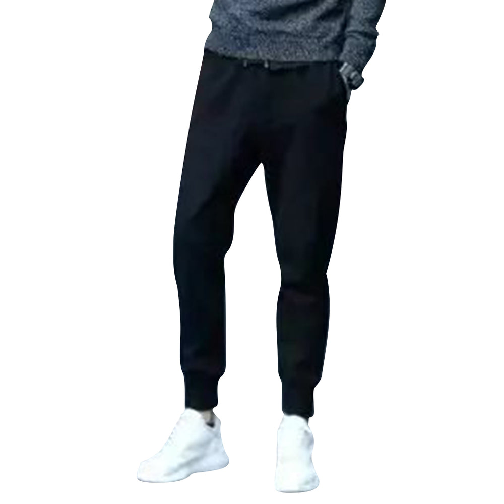 Fashion New Black Color Slim Fit Men Casual Ankle Banded Pants Elastic Tight Harem Pants Pencil Pants For Spring Autumn