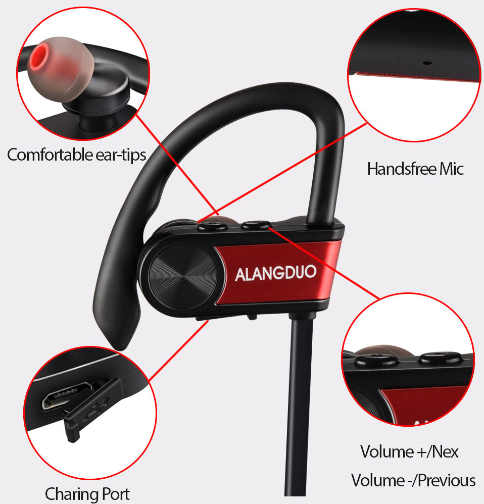 Bluetooth Water Resistant Wireless Fitness Stereo Headphones