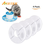 ABEDOE 4pcs Charcoal Filter Activated Carbon Filters Replacement for Flower Fountain for Pet Cat Dog Supplies