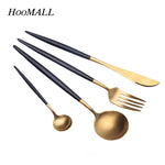 4 Piece: Stainless Steel Western Fork Dinnerware Set
