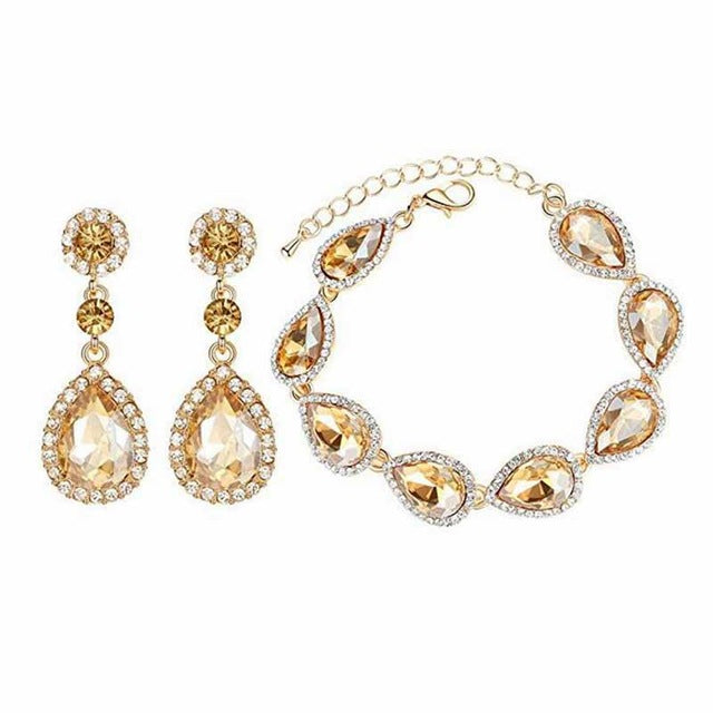 Minmin Silver Color Bridal Jewelry Sets Long Earrings with Bracelet for Women Wedding Accessories African Beads EH070+SL051