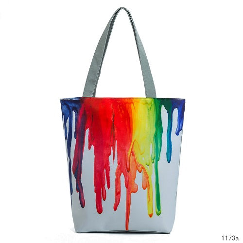 Women's Stylish Colorful Painting Large Tote