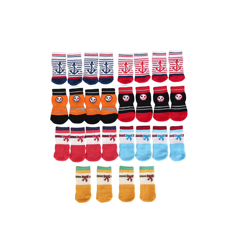 Small Pet Dog Doggy Shoes Lovely Soft Warm Knitted Socks Clothes Apparels For Cat Dog Socks S-XL
