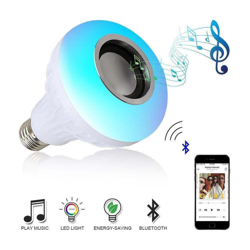 Wireless Bluetooth Speaker w/ Smart LED Bulb & Remote Control