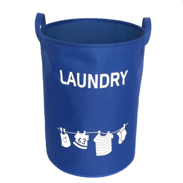 Urijk Waterproof Oxford Clothing Laundry Baskets Washing Hotel Home Laundry Basket Storage Containers Kids Toys Organizer