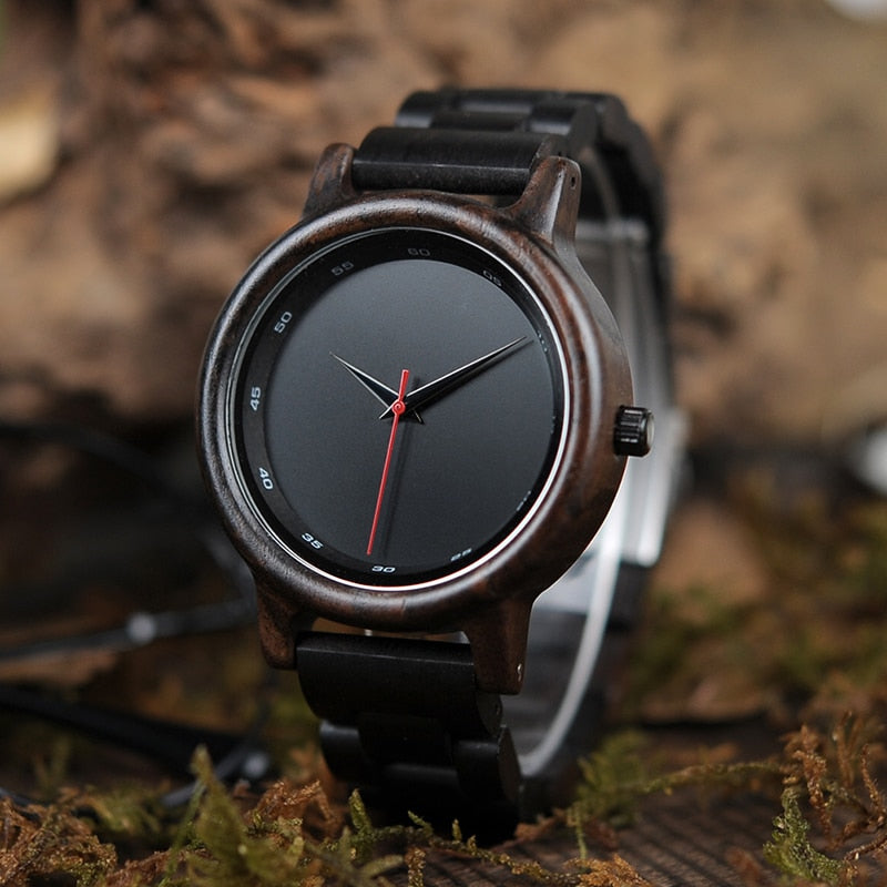 Men's High Fashion Bamboo Wooden Luxury Wristwatch