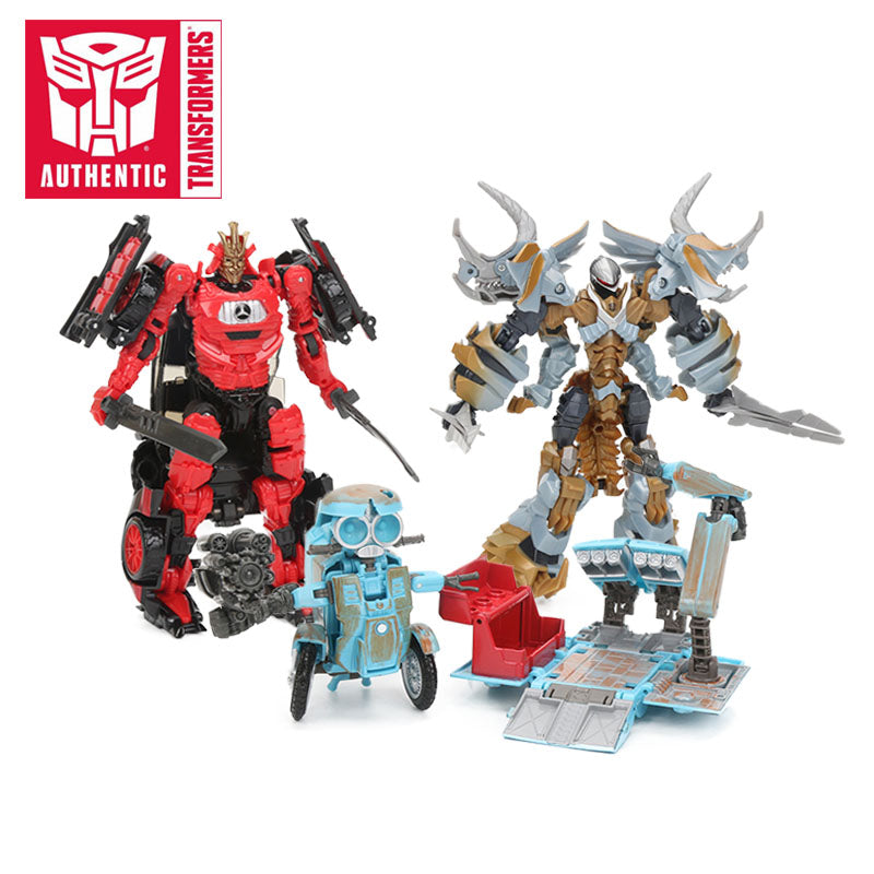 Transformers Toys The Last Knight Premier Edition Steelbane Deluxe Dinobot Slug Autobot Sqweeks Action Figures Collection Model