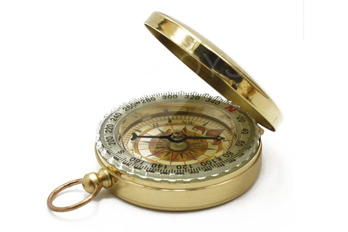 Outdoor Pocket Navigation Compass with Glow-in-the-Dark Display