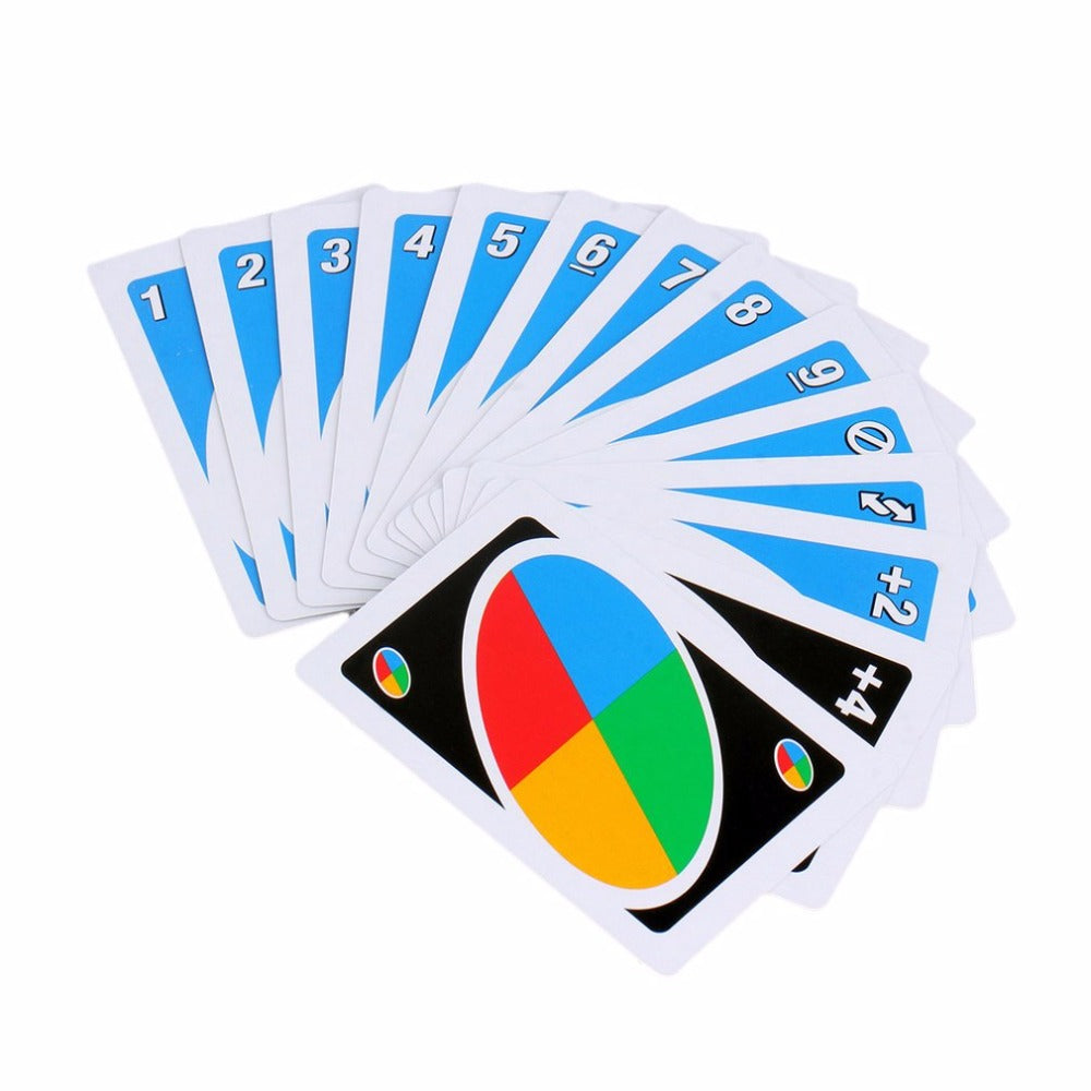 UNO card game poker Family Fun One Pack of 108pcs Pokers Card Game Fold Playing Card Entertainment Board Game