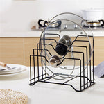 Stainless Steel Kitchen Storage Pot Lids Rack