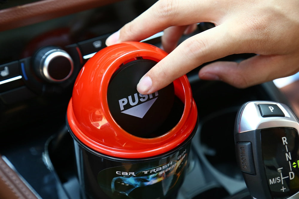 Universal Car Cup Holder Trash Can