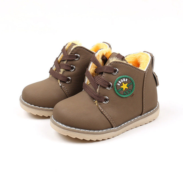 Kids Boots Boys Martin Boots Winter Fashion Children Shoes Girls Boots Warm Plush Snow Boots Baby Casual Kids Sneakers