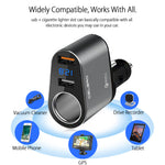 Dual USB 3.0 Quick Charging Car Charger Outlet Adapter