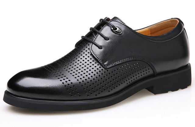 Break Out Men Oxfords for Men Dress Shoes Business Leather Shoes Breathable Summer Style Men Shoes with Holes 45 46 47 48
